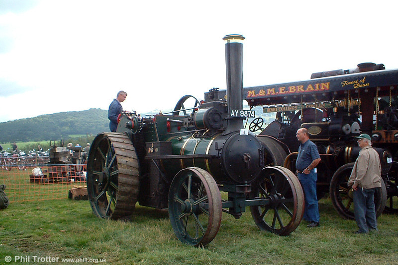 AY 9874 'Bathsheba'. Gibbons & Robinson Traction Engine no. 959/1890. The last survivor of only seven traction engines by this maker. Used for a variety of tasks, the engine was last used at Preston on Wye in around 1941 for pulling up tree stumps. Passed into preservation in 1961. Three Cocks Vintage Rally, Hay on Wye, 14th August 2005.