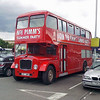A somewhat tedious evenings shopping at Sainsburys, Warren Heath in Ipswich was rather enhanced by this ex Wilts and Dorset  Bristol Lodekka, 467 BMR parked in the car park. This is a shot from my mobile phone which is all I had at the time. Wonder if it got clamped for taking up what looks like four parking spaces as suggested by the yellow warning notice.   21st June 2011