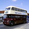 Lowestoft Corporation Leyland Titan PD2/47 Fleet Number 12 on the Ipswich to Felixstowe road run on 5th May 2013.