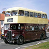 Lowestoft Corporation's 1947 AEC Regent GBJ 192 in Ipswich taking part in the Ipswich Transport Museum's Ipswich to Felixstowe road run on 4th May 2008. This vehicle is based at the East Anglian Transport Museum at Carlton Colville, Lowestoft.