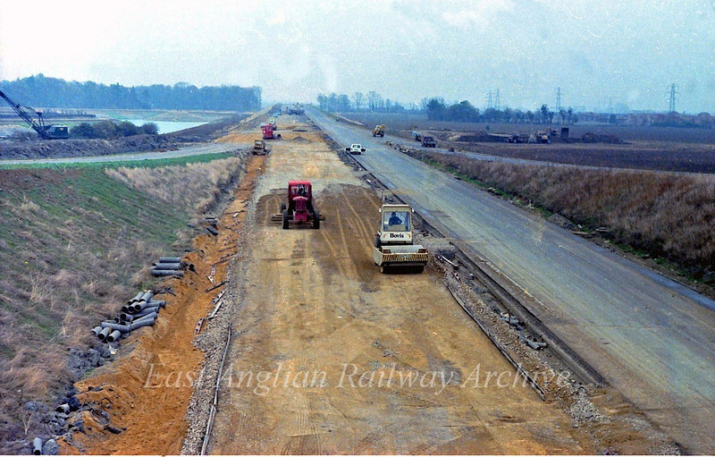 5th November 1978.Only a few weeks to go and the road will be open. This is looking east towards Milton.