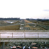 View looking East towards Milton from a pile of sand between the two flyovers.  26th December 1977.