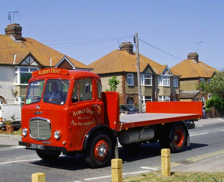 Albert Dent of Hilgay Norfolk.  1962 Dennis Condor flatbed truck.  1st May 2011