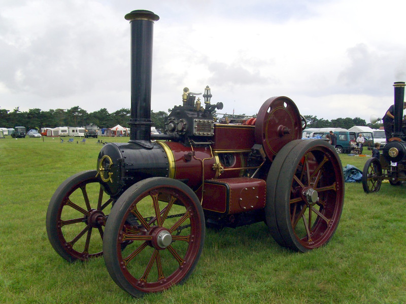 Garrett traction engine.
