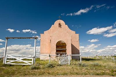 Old church  on the flat prairies of Montana.