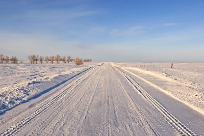 Same road, looking north
