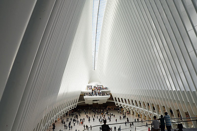 Inifrån World Trade Center Transportation Hub