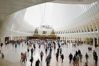 Inifrån World Trade Center Transportation Hub