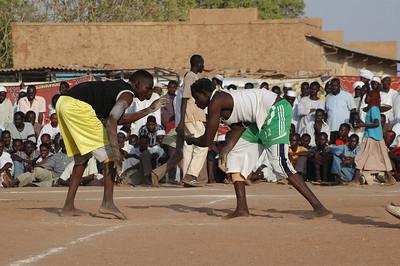 Nuba brottning, Khartoum