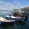 Fiskebåtar i hamnen i Limenas