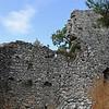 Akropolis - Bysantinska torn byggs av gamla tempelstenar.