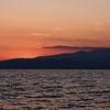Solnedgång vid vårt hotell, Ilio Mare, Skala Prinos