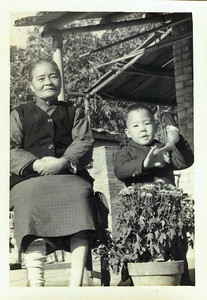 Kyle Chen and his grandmother in Taiwan, 1963