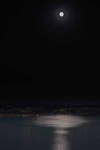 Moonlight over Puget Sound