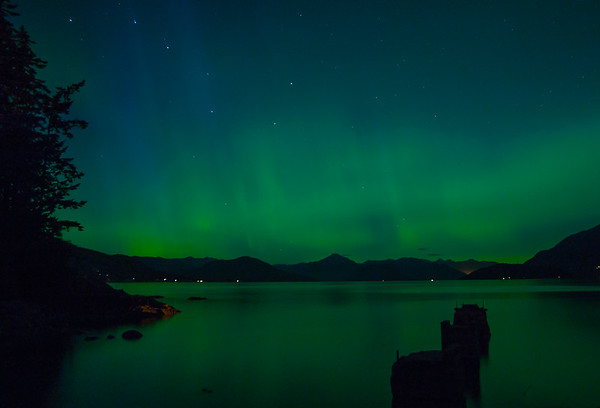 Aurora Borealis over Howe Sound, BC