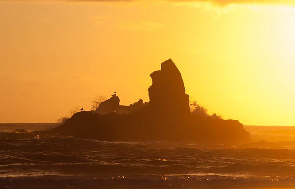 Sunset on Cannon Beach, OR