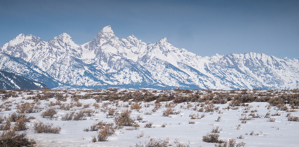 Grand Teton from Kelly WY