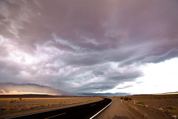 The road through Death Valley, CA.