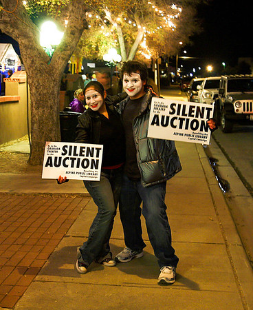 """Silent Auction"" during ""Art Nights"" in Alpine, Texas."