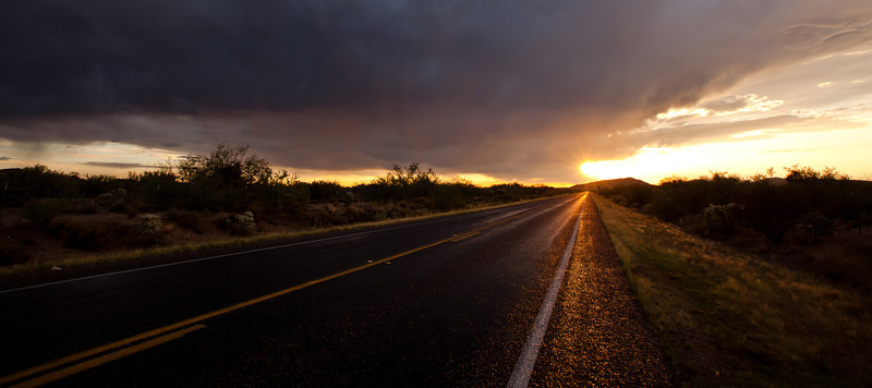 Off Highway 79 dropping into Tucson, Arizona.