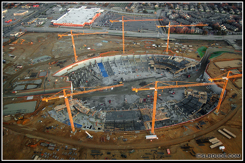 Future home of the Dallas Cowboys. When finished it will hold several world records, including world's largest air conditioned stadium, largest stadium with a retractable top, and world's largest video screen.