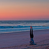 Standing on Her Head at Sunrise on Vilano Beach