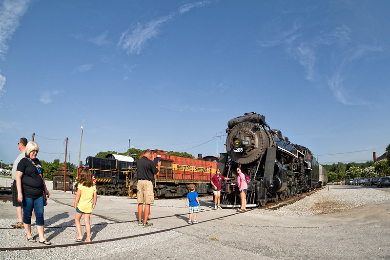 Family at Tennessee Valley Railroad Museum