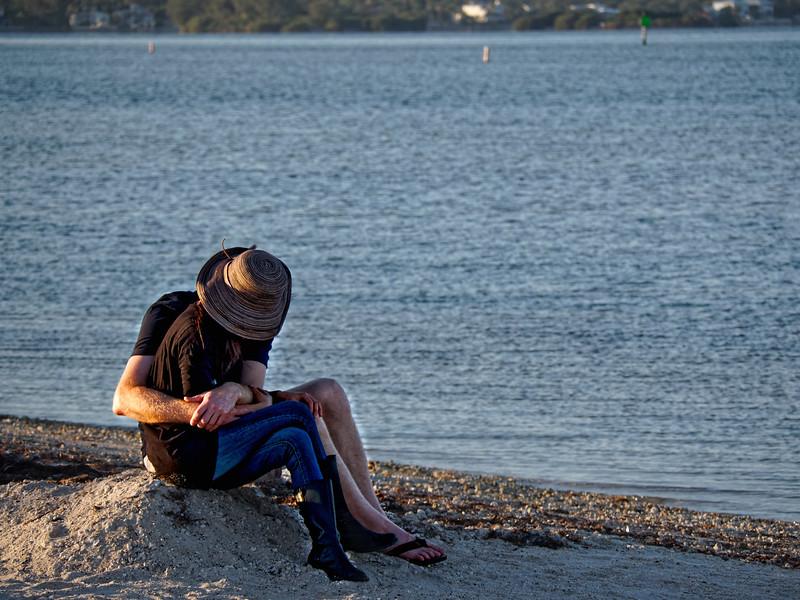 Lovers on Dunedin Causeway Beach