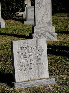 Grave Marker at Greer City Cemetery