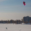 Wind Boarding on Lac St-Louis, Pointe Claire, QC.