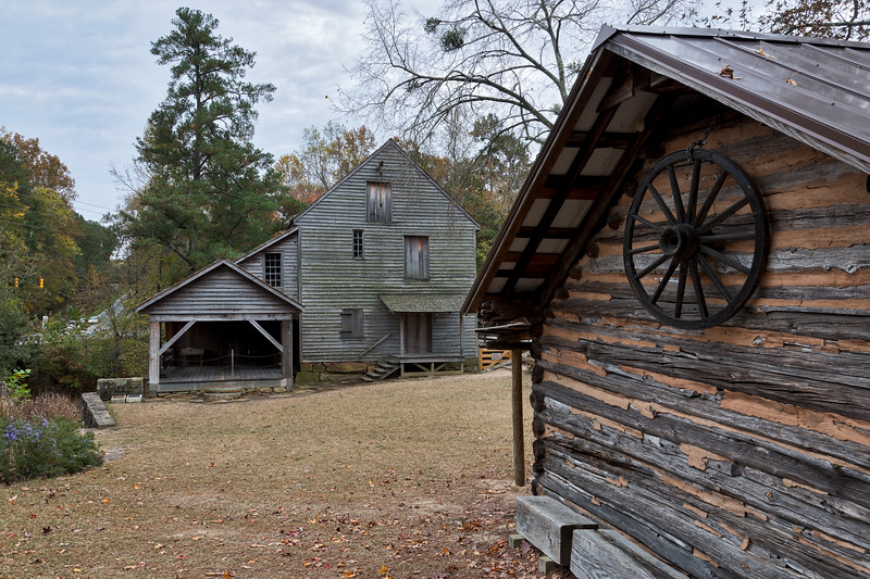 Historic Yates Mill and Side Building
