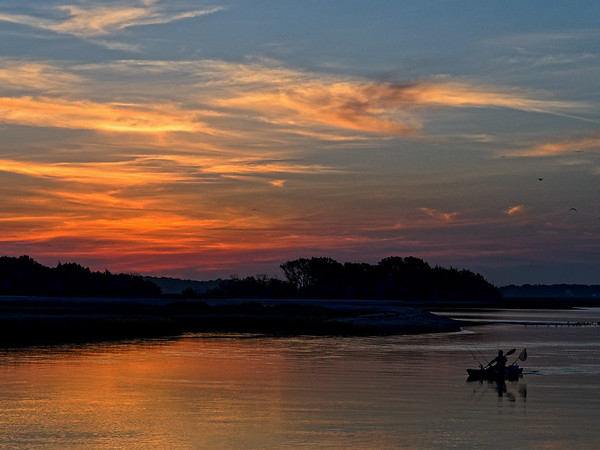 Sunrise at Clapboard Creek boat ramp