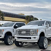 Two Ford F-150s
