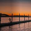 Net Fishing at Sunrise