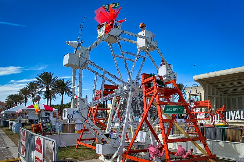 Jacksonville Beach Boardwalk at Deck the Chairs