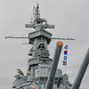 USS Alabama's Turret number 2 and superstructure