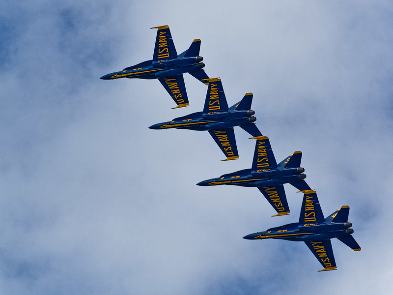 Navy Blue Angels in my Backyard
