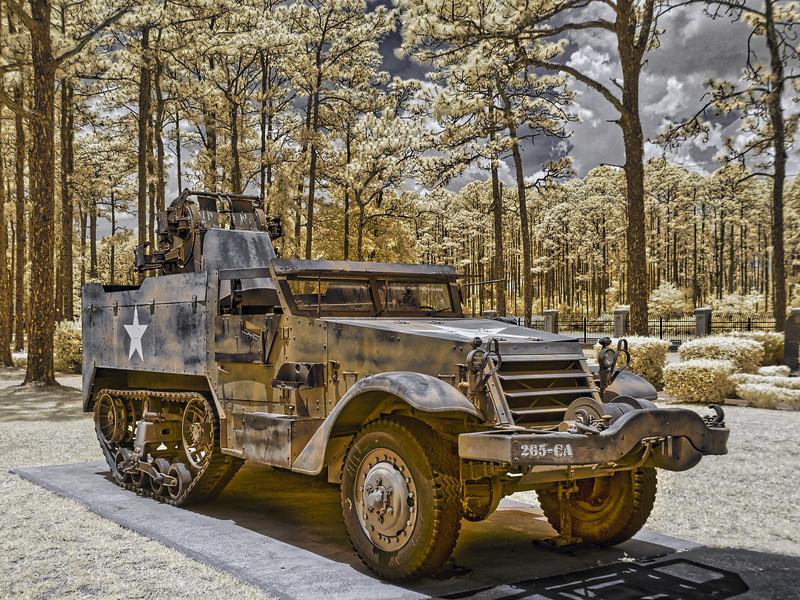 World War II Army Halftrack at Camp Blanding