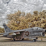 A-7 Corsair Displayed at Camp Blanding