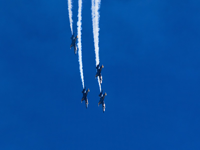Diving Blue Angels