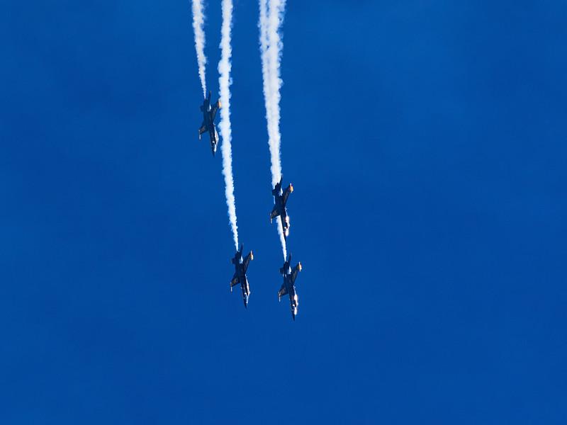 Diving Blue Angels