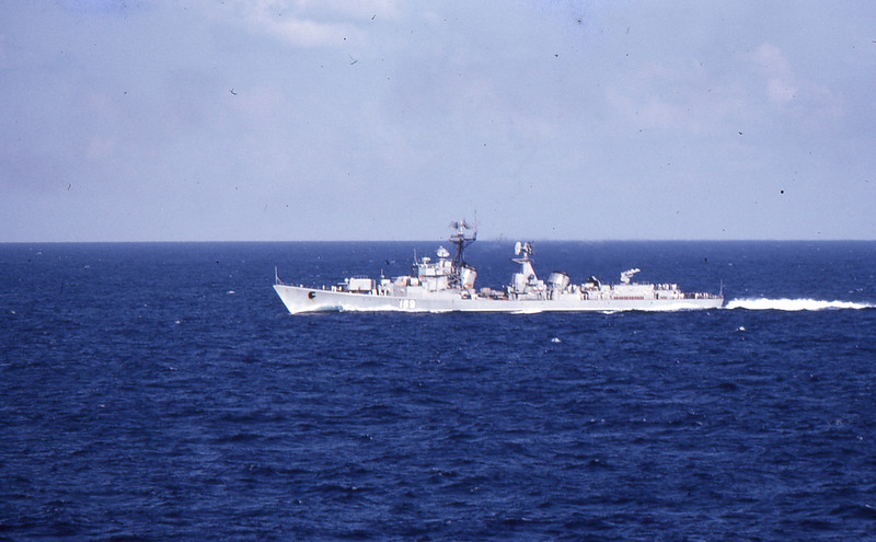 Russian Kotlin DDG, 1973,  (photographed from  USS Intrepid)