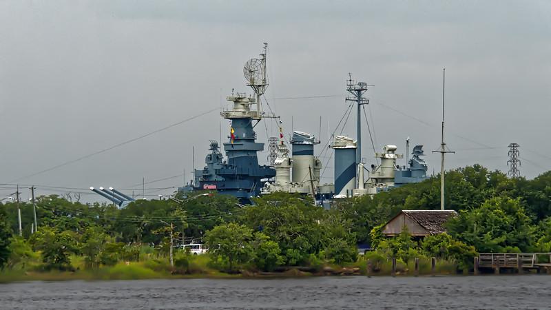 USS North Carolina Across The River