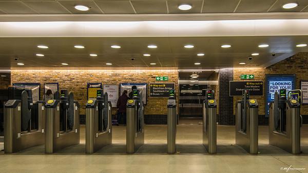 Entry gates at Blackfriars Station