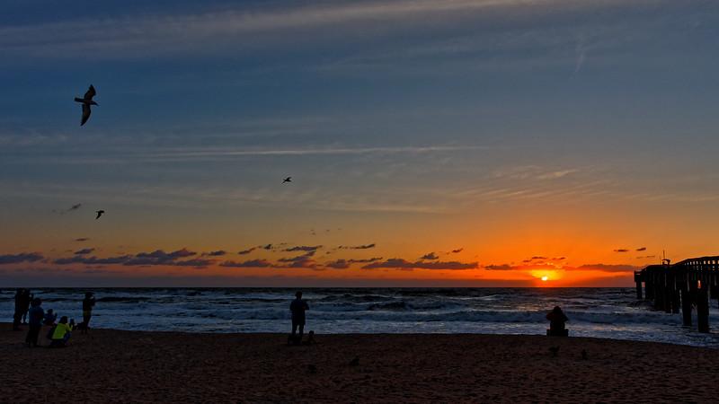 Everybody's on Beach for Sunrise!