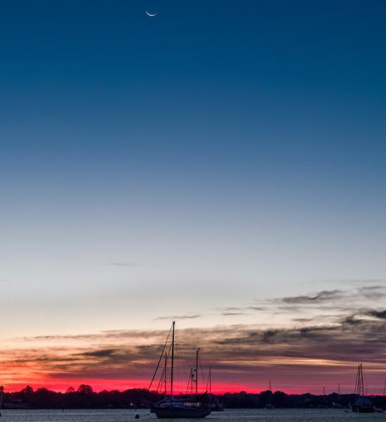 New Moon at Sunrise