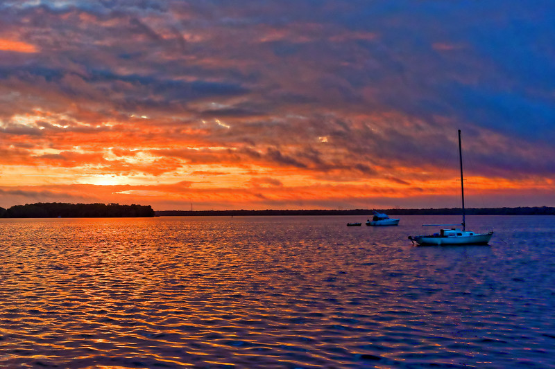 Sunrise on the The St. John's River in Palatka