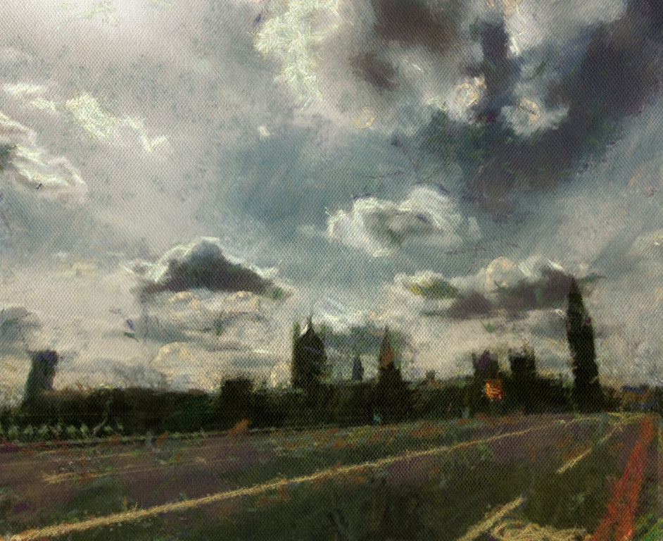 Messing With The Painting - Big Ben   Location : Big Ben, London, England Camera : Canon 7d lens : Tokina 11-16 f2.8 Post Processed : iphone 4 (Blender, Autopainter, Snapseed)