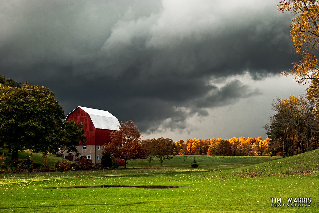 Well the interesting fall weather kept me from getting anything productive done this afternoon.  I tried to resist, but ended up grabbing the camera to snap a few against the dramatic skies.  Just outside of Port Dover on highway 6.