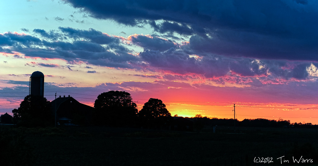 This sunset was so intense I had to pull to the side of the road and get some shots of it.  Somewhere along highway 6 outside of Port Dover.